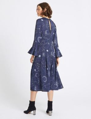 marks-and-spencer-constellation-print-midi-dress