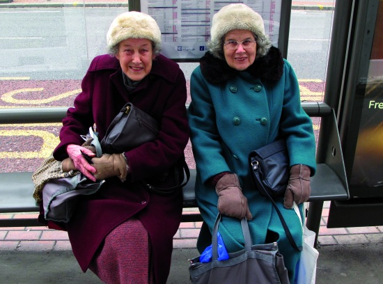 bus stop ladies