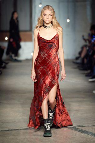 Monse check dress